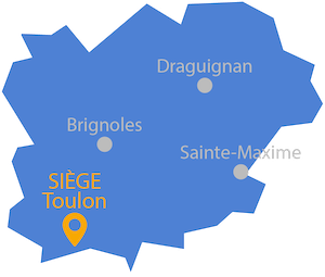 Carte region toulon